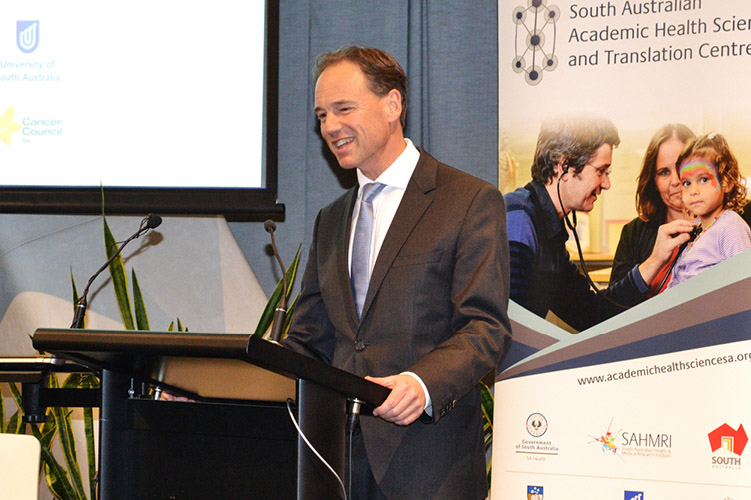 Federal Minister for Health, the Honourable Greg Hunt MP, announced the $6 million funding boost in the work of the SA Centre