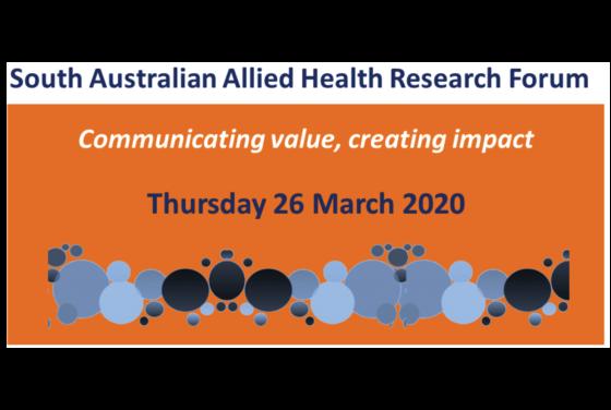 SA Health Allied Health Research Forum 2020