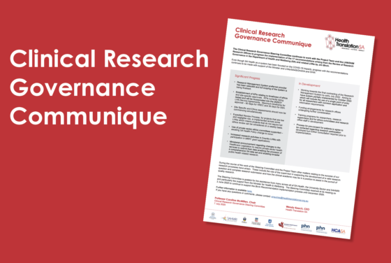 Clinical Research Governance Communique