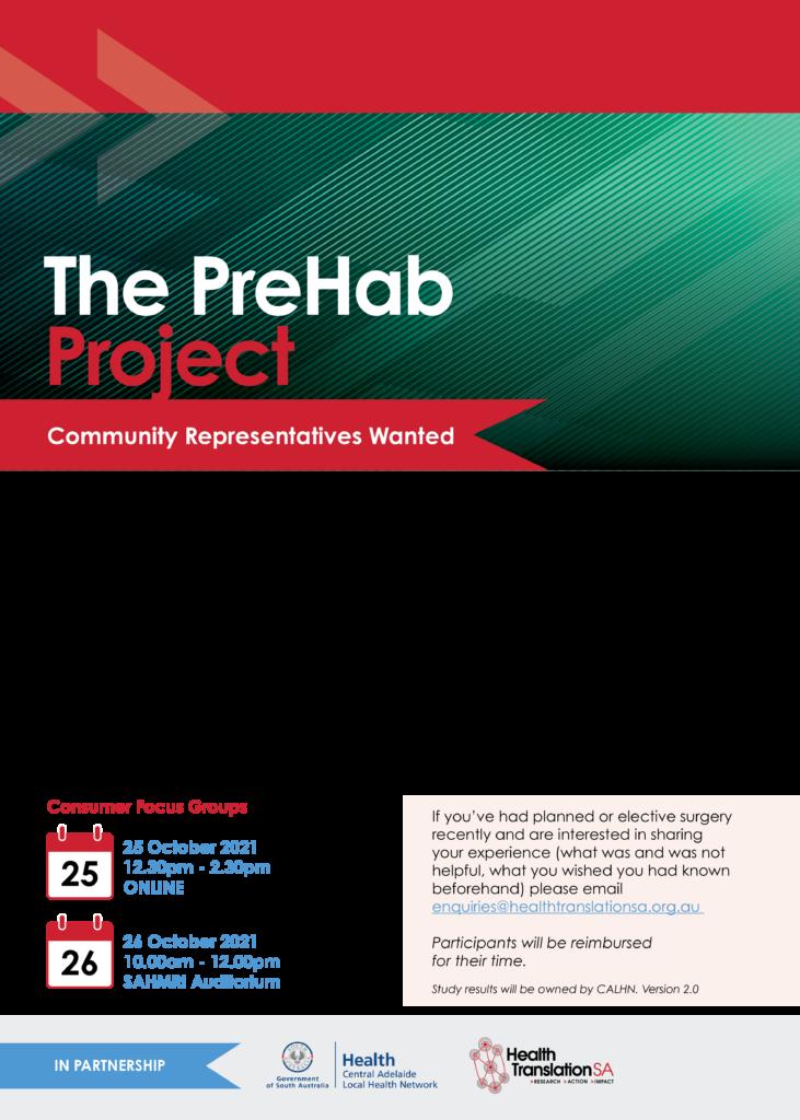 PreHab community flyer